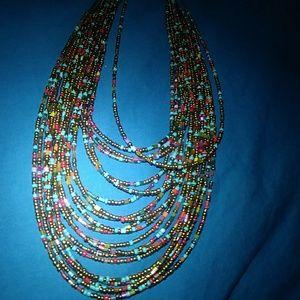 Multicolor Sea Bead Necklace